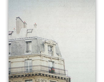 Paris Architecture Photography, French photo, Paris decor, Paris Wall Art, Paris photo, cream decor, French art - Fine Art Photograph