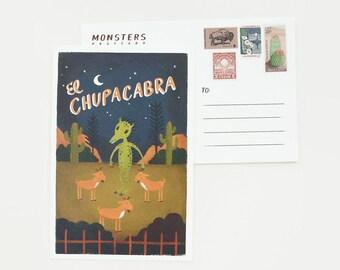 El Chupcabra Postcard 1pc