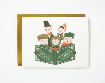 Holiday Carolers Card 1pc