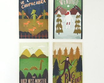 Monster Postcard Set 8pcs