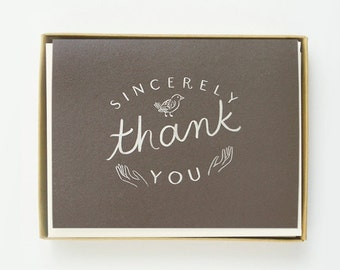 Sincerely thank you Card 8pcs