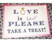 Love is Sweet candy table sign, 5x7