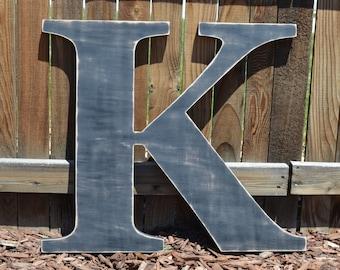 Large Wooden Letter  K - Custom Letters 24 Inch