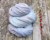 SALE British Bluefaced Leicester Yarn, aran roving yarn, hand dyed aran yarn, blue grey yarn, 100g,
