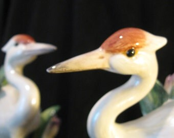 Classic Early Fitz and Floyd Egret Candle Holders