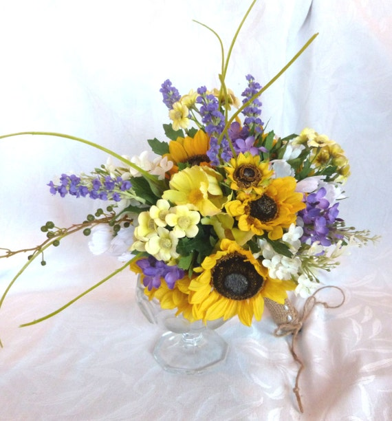 Sunflower Wedding Country Wedding Sunflower And Lilac Bouquet