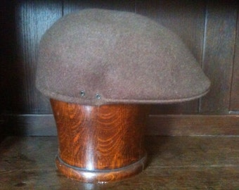 Vintage English Brown Cap Hat size 56 circa 1960-70's / English Shop