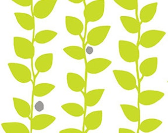 """17"""" of Brigitte Vine White Ground/Green by Contempo Fabrics of Benartex"""