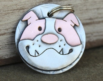 Dog Tag - Dog ID Tag - Pet Tag - Dog Tags Custom-English Bull Dog - breed tag or key chain