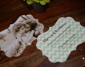 RESERVED PAIGE, Christmas Photo Cards, Ornate Shape, Set of 100