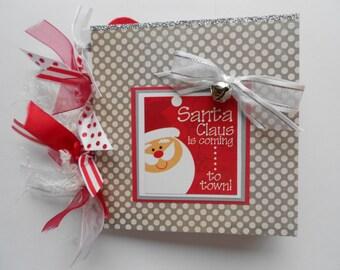Christmas premade scrapbook album Christmas memories scrapbook Santa scrapbook premade