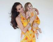 CUSTOM Wide Leg Halter Jumpsuit, Silk Paisley, Daughter matches Mama