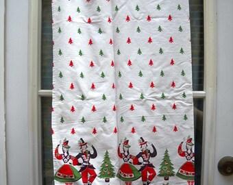 Dutch Christmas Cafe Curtains 2 Panels so cute
