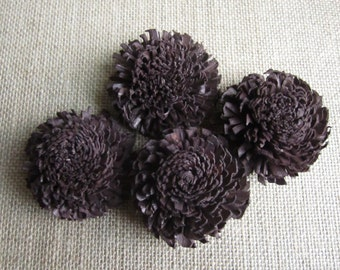 Sola Chorki Flowers  -- Set of 12 -- Dark Brown