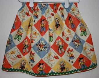 Cowgirl Skirt  Size 2 to 7