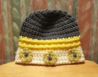 NEW Pattern  Flowered Brim Bucket Hat - C106 Instant Download
