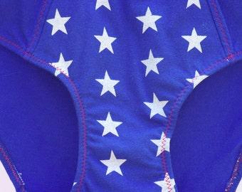 Starred Superhero Women's Underwear - Boy Cut & Recycled Cotton - Women's 8 - Ready-to-Ship