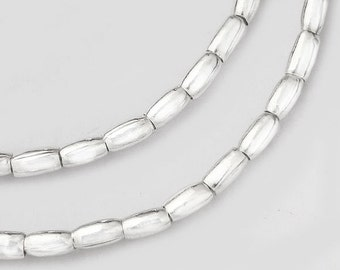 "58 of Karen Hill Tribe Silver Wheat Beads 2.5x4 mm. 9"" :ka1928m"
