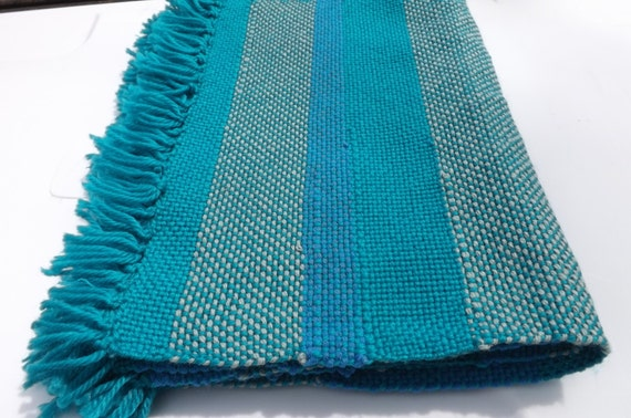 Handwoven Set of Placemats Blue Teal; Free Shipping in US