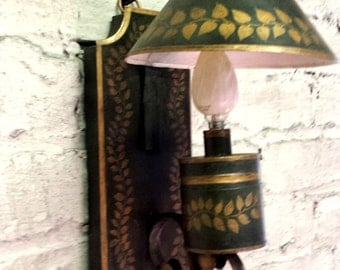 Scottolini Tole Wall sconce, Metal Colonial Wall Sconce