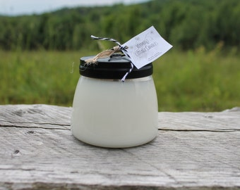 Handpoured 4oz Pure Soy Candle Jar with Black Metal Lid-Vermont Cottage Candles