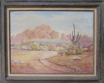 Folk Art Desert Landscape Painting