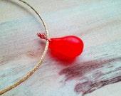 AFIA Necklace ~Made to Order~ raffia cord and big mali wedding rare collectible vintage glass