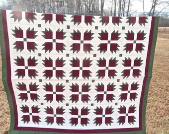 "Bear Paw Queen Size Quilt, 75"" x 88"""