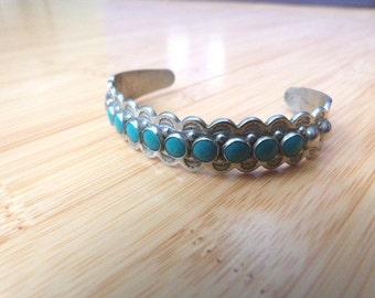 Native American Southwest Style Bracelet with Turquoise