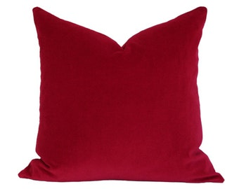 Red Velvet Pillow Cover 16x16