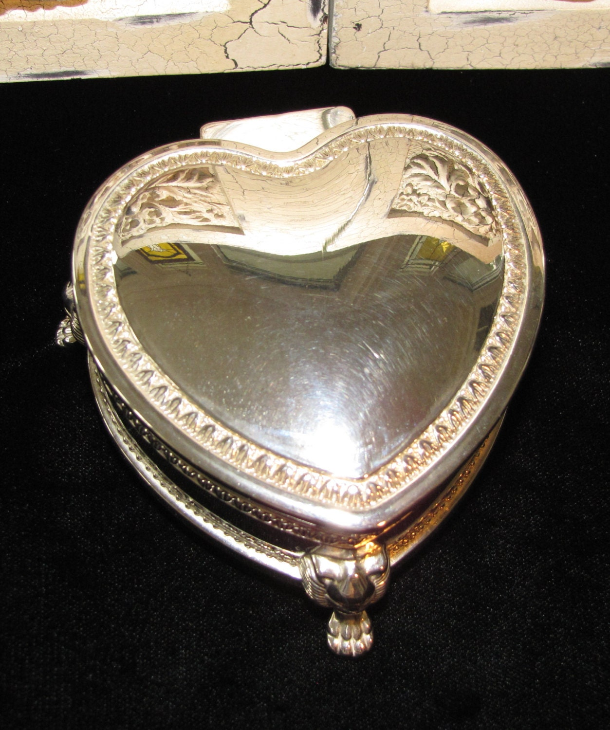 Silver Ring Heart Shape Makers Mark | Silver Rings
