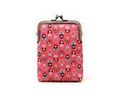 Tiny pink Matryoshkas mini kisslock wallet