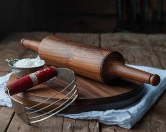 Chapati Board and Roller - Roti Maker - Paratha Pin and Board - Naan Bread Rolling Pin and Board
