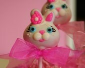 Mom's Killer Cake Pops Bunny Rabbit Cake Pops Your Custom Colors Available