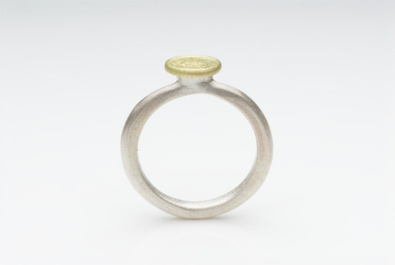 Silver and 18 ct gold ring Shen Ring alternative