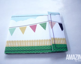 Pennant mini blank notebook pad with velcro clasp