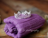 Baby Girl Props, Newborn Wrap Set, Cheesecloth Wrap, Newborn CROWN, Baby Wrap Set, Newborn Photo Prop, Purple Baby Crown, Baby Crowns