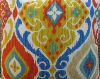 SALE Outdoor Pillow Cover - Lumbar, 16 x 16, 18 x 18, 20 x 20, 22 x 22 - Modern Medallion Scroll Fiesta