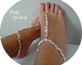 Barefoot Sandals Coachella Gypsy Shoes Beach Boho Shoes Bohemian Burning Man Silver Bridal Shoes Wedding Shoes Beach Wedding Festival Leafs