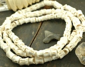 Have a Backbone: Beads made from African Fish Vertebrae (Medium)  9x8mm / White, Natural, Winter White Craft, Jewelry Making Supplies