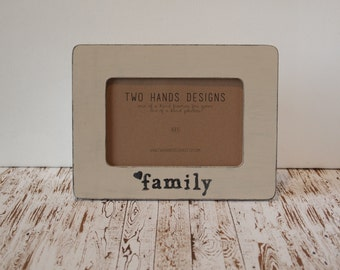 Family Picture Frame, Personalized Frame, Custom Family Picture Frame, 4x6