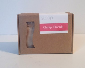 Cheap Florida Handmade Vegan Soap Bar - Vegan Castile Soap - Hot Process Tropical Soap Summer Scent 5oz