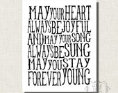 Forever Young Print - Black