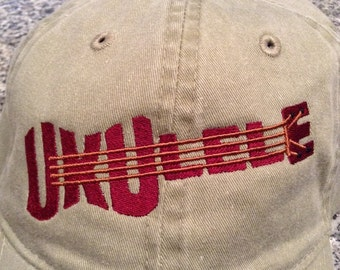 Ukulele Embroidered Hat Cap