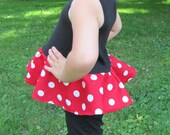 everyday princess Minnie Mouse inspired ruffle tank top  shirt -- RTS - ready to ship  Size 4 Size 5