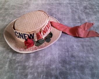 Vintage Nixon-Agnew Campaign Skimmer Hat