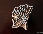 Indian wood stamp, Textile stamps, Pottery stamp, Tjaps, Wood block stamp, Printing Stamp- Stylized Flower