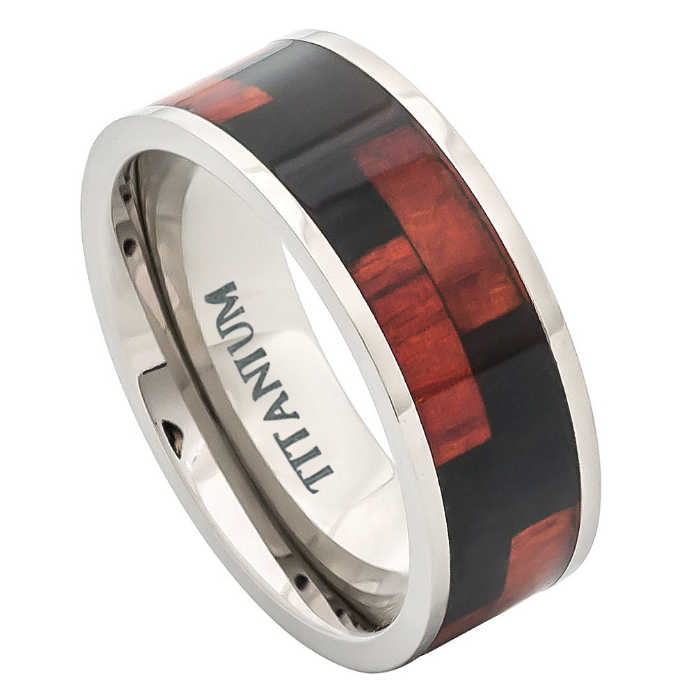 titanium wedding band ring mens ring mens band by. Black Bedroom Furniture Sets. Home Design Ideas