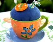 Pincushion Cup and Saucer