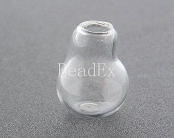 4pcs / Hand Blown / Hollow Glass Beads / Glass Cover / 30x24mm (49H21/G207)